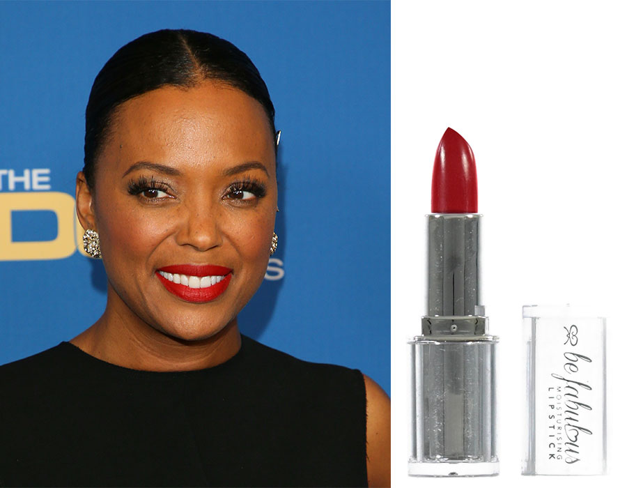 Lipstick for whiter-looking teeth
